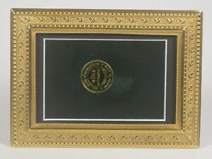 """Elias Artmetal Gold Plated 4"""" x 6"""" Tuscany Picture Frame Style # 3425G"""