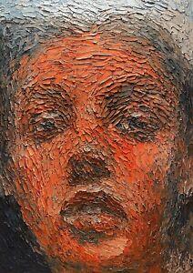 Original Unikat Abstract Figurative Oil Portrait Gemälde