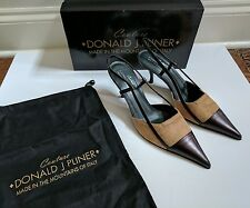 Donald J Pliner Couture Rus Slingback Cap Toe Pump Leather Heels Camel 7.5