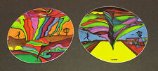 "New--2--4"" Stickers--""Disc Golfer in Oz""-""The First Disc Golfer"" Very High Qual"