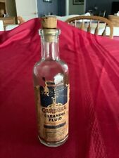 VINTAGE COLLECTIBLE 12 sided BOTTLE CARBONA CLEANING FLUID rare find