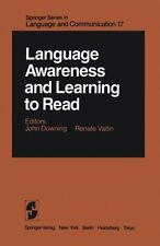 Language Awareness and Learning to Read (Springer Series in Language a-ExLibrary