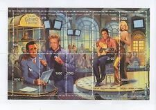 HOLLYWOOD LEGENDS BOGART JAMES DEAN ELVIS MONROE KARAOKE MNH STAMP SHEETLET