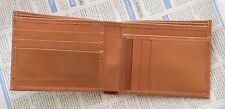 Luxury Real Genuine Natural Leather Slimmest Credit Card Wallet Purse Camel Pure