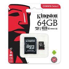 Kingston Sdc10g2/64gb Scheda MicroSD da 64 GB Classe 10 Uhs-i 45 Mb/s con ad