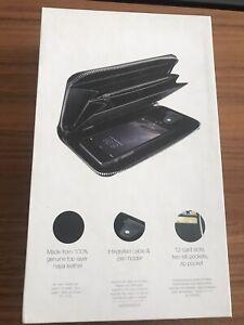 New Carte Blanche iPhone 6/SE 2nd  Gen Case Continental Zip around wallet- Black