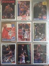 Dennis Rodman Basketball Card Lot Of 50 In Protective Pages 1990-1994 Rookie