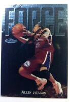 1997 97 Topps Finest Force Allen Iverson #143, W/ Peel 76'ers HOF