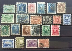 mystamps  Newfoundland Canada, SC 24 to SC 69, 22 total, CV $220.00, 1868-1897