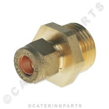 """8mm COPPER COMPRESSION FITTING to 1/2"""" BSP MALE THREAD ADAPTOR PIPE FITTING LPG"""