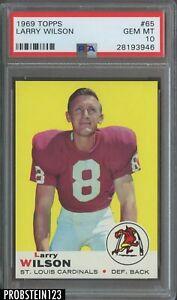 1969 Topps Football #65 Larry Wilson St. Louis Cardinals HOF PSA 10 GEM MINT