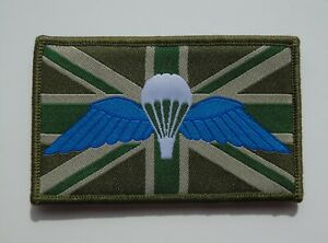 British Army Parachute Regiment/Trained Morale ID Patch/Badge Wings - New