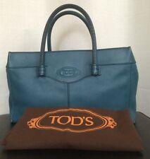 TOD'S Blue Leather Satchel Handbag