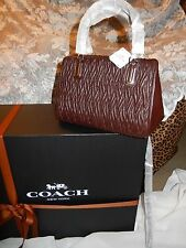 NWT Coach Madison Gathered Twisted Oxblood Leather Satchel Shoulder Bag 49723
