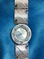 Shablool Watch Genuine 925 Silver Women's Israel Opal Blue