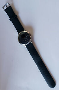 Black Silver Withings Steel HR Hybrid Smart watch HWA03 - UNTESTED & SOLD-AS-IS