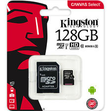 Kingston 128GB Micro SD SDXC MicroSD Class 10 128 G GB Canvas Select Memory Card