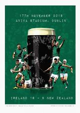 IRELAND VS ALL BLACKS: The Green Stuff -   A3 FINE ART PRINT Signed by Artist