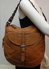 Gal Cognac Brown Shoulder Bag Handbag Purse Messenger Satchel