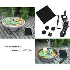 UK 180L/H Solar Panel Powered Water Pump Aquarium Fountain Pool Garden Pond