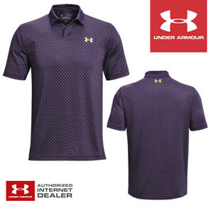 Under Armour Performance Golf Polo Shirt Purple/Pale Moonlight - NEW! 2021
