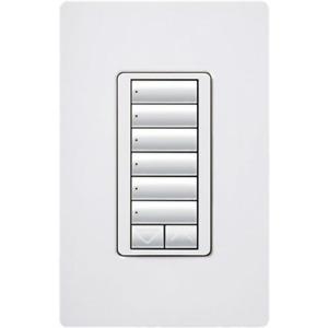 Lutron Electronics RRD-W6BRL-WH RadioRA 2 Wall-mount Designer Keypads 6-Buttons