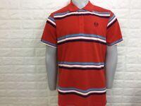 Sergio tacchini men's fig polo S M L XL XXL red stripe retro look bnwt