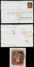 1841 Penny Red (HG) with a Kilmarnock Type 1 Cross on 14 Jun 1842 Cover