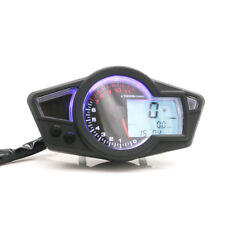 LCD Digital Speedometer Odometer Tachometer Gauge Kmh/Mph For Honda Yamaha KTM
