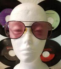 Vintage Eye Glasses - Mens Original Tinted Purple Prescription Large Hipster #24