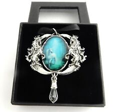 Anne Stokes Enchanted Cameos necklace Forest Unicorn artwork Officially licensed