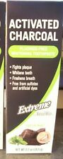 Natural White Extreme Activated CHARCOAL 2.7oz (Box) Whitening Toothpaste*NEW
