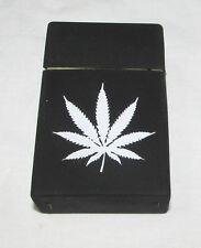 2 Black Marijuana Weed silicone rubber cigarette case cover pocket soft