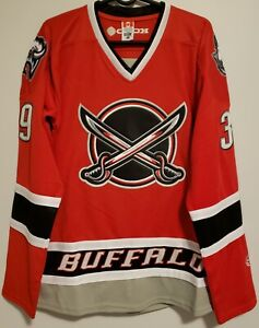 Dominik Hasek #39, Buffalo Sabres Alternate Swords Throwback Jersey Size Medium