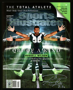 Russell Wilson Auto Sports Illustrated September 2020 Edition Seahawks RW 39310