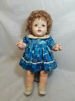 """Antique Composition Doll Unmarked  20"""" tall"""