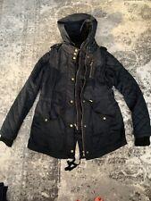 Express 2 Layer Anorak Black Vest And Jacket Coat Size Medium With Bronze Detail