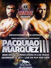 MANNY PACQUIAO vs. JUAN MANUEL MARQUEZ 3 / Original Fight Sponsors Boxing Poster