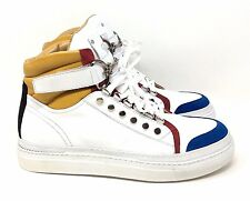 Cesare Paciotti 47430 High Top Sneaker White Multi Leather Daggers 8.5 UK 9.5 US