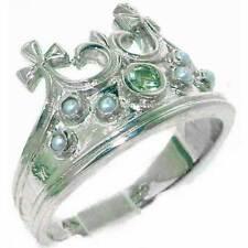 Peridot Band Sterling Silver Fine Rings