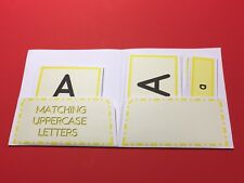 Montessori - Pre-Reading Three Part Cards And Folio - Matching Uppercase Letters