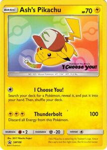 *sealed* ASH'S Pikachu SM108 Black Star Promo Pokemon Card | Free Tracked Post