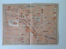Birmingham, Inglaterra, Gran Bretaña, 1901 Antiguo mapa de calle, Wagner & debes, Atlas