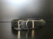 BLACK Riveted Leather Dog Collar - Bassett, Golden Retriever, Husky, Terrier
