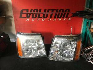 2002 - 2006 Cadillac Escalade Headlights Pair (LH & RH)