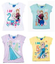 Disney Frozen Eiskönigin Mädchen Kinder Geburtstags-Shirt Gr.92-110 T-Shirt  neu