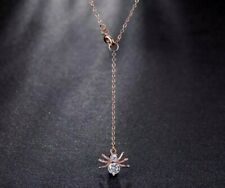 Crystal Spider necklace rose gold Halloween birthday christmas gothic choker 349