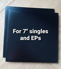 """50 x Black Card 7"""" Single 45 Outer Sleeve NO HOLE Cover Vinyl Record Jacket"""