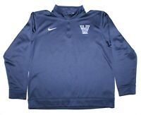 Nike DriFit 1/4 Zip Villanova Wildcats Navy L/S Pullover Shirt Youth Size XL