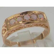 Luxury 9ct Rose Gold Opal English Eternity Band Ring